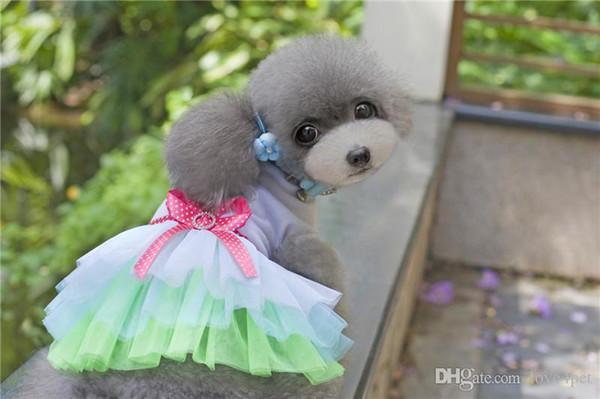 F31c dog summer dress dog cat summer cute dresses dog summer skirt sweet pet princess dresses puppy Wedding Skirts