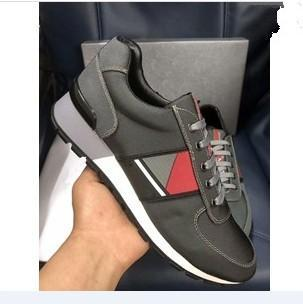 Wholesale-new genuine leather men Designer casual shoes arena colors low top shoes size 38-45 Free Shipping xg1809106