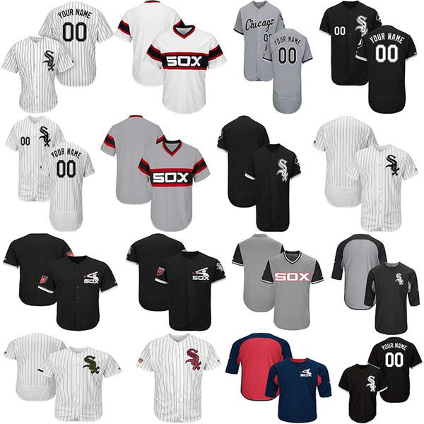 Personalizado dos homens de Chicago Branco Yoan Moncada Camisas Eloy Jimenez Carlos Rodon Sox Coleção Nicky Delmonico Mulheres Juventude Camisa de Beisebol
