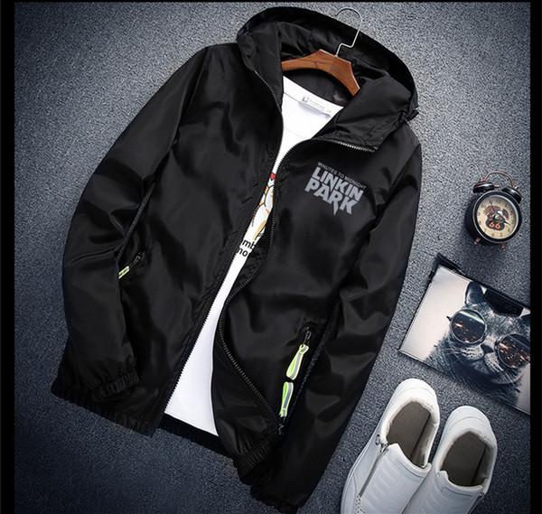 Cap comme cadeau S à 7XL plus la taille Linkin veste de parc réfléchissant la lumière hommes femmes coupe-vent hip hop Rapper veste à capuchon manteau