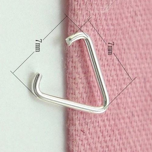 50pcs/lot 925 Sterling Silver Pinch Clip Clasp For Pendant DIY Craft Jewelry 0.6x6.3x6mm AP060* Free Shipping