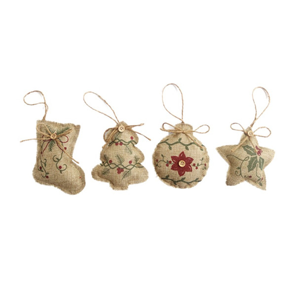 Christmas Candy Stockings Pendant Xmas Tree Decorative Hanging Ornaments New Year Gifts Holsters Home Party Supplies