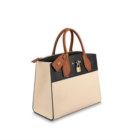 03826e3e6c3 2019 Womens LVLV Designer Handbags Luxury Lady Bags New Fashion Handbag  Leather Backpack Purses Bag Handbags Top Handles City Steamer MM M53803  From ...