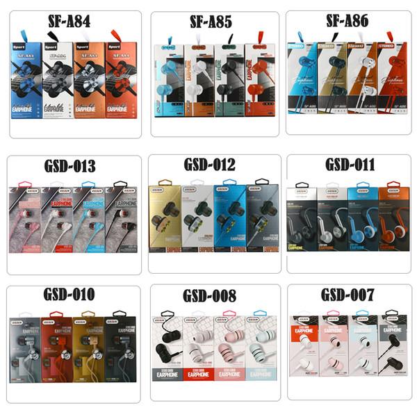 top popular Sport headphones earphones 3.5mm stereo earphone in ear phones headset headphone with mic with retail package box 2020