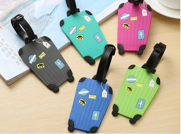 top popular Travel Accessories Creative Luggage Tag Fashion Cartoon Silica Gel Suitcase ID Addres Holder Baggage Boarding Tags Portable Label A180868 2019
