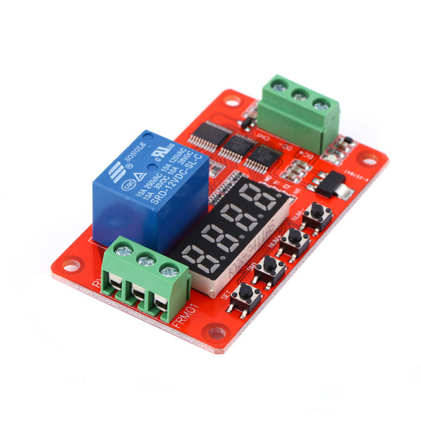 Freeshipping 12V DC Multifunction Self-lock Relay PLC Timer Switch Adjustable Module Time delay relay Module