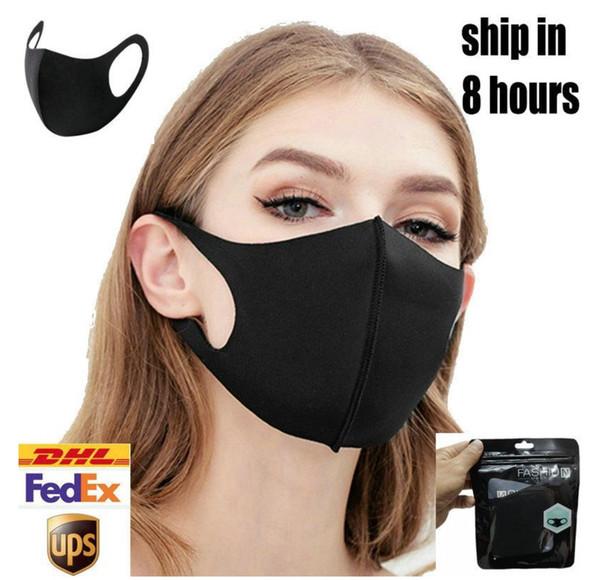 Pano máscara preta Adulto