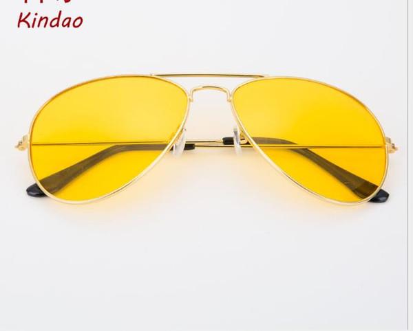 Korean version sunglasses metal sunglasses golden night vision glasses fashionable toad glasses