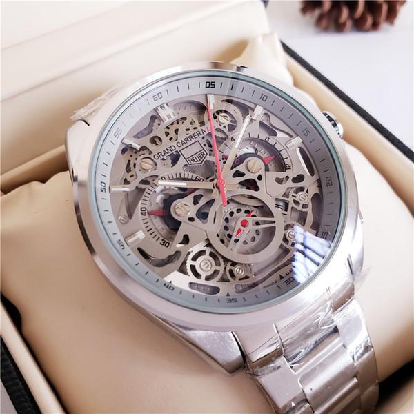 Hot Mens Uhren Luxusuhr Charmante Edelstahl Mechanische Automatische Armbanduhren Datumsanzeige Zifferblatt Kostenloser Versand Uhren Uhr