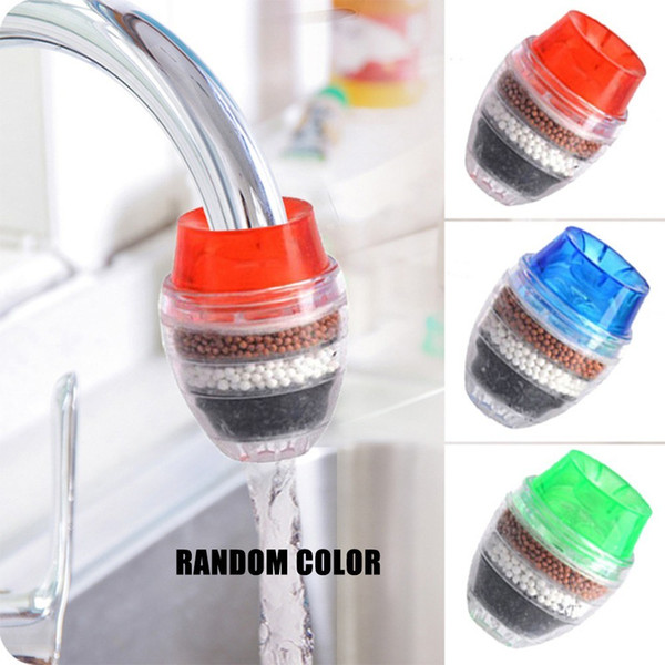 top popular Kitchen Tap Head Faucet Water Filter Purifier Sprayer Filtration Activated Carbon Chlorine Fluoride Heavy Metals Water Tap Filter 2021
