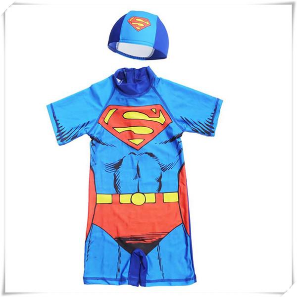 Badeanzug Für Jungen Cartoon Muster Strand Sonnencreme Kleidung Kinder Kinder Bademode Badeanzug Mit Kappe