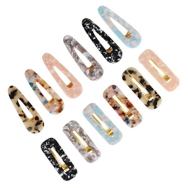 12pcs Hair Pins Retro Metal Marble Pattern Duckbill Clips Accessories Hairpins Duckbill Alligator Clip For Girls Women