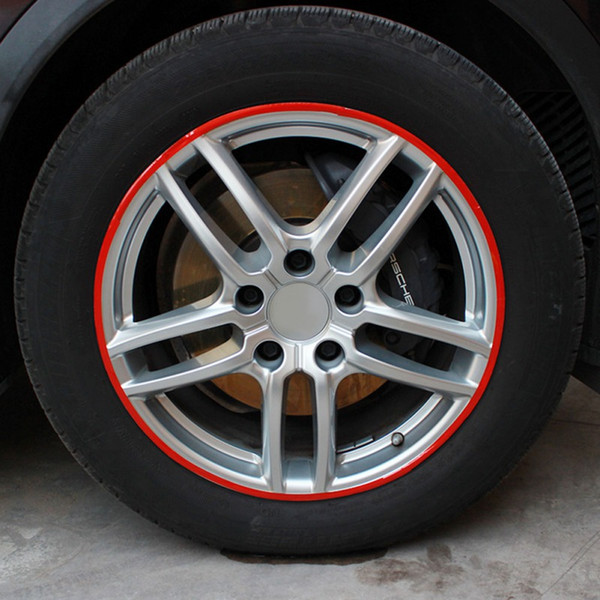 Car Styling 16 Strisce biciclette Wheel car motore pneumatici riflettenti Rim adesivi e autoadesivi della decorazione 10