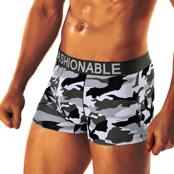 underwear boxer male panties mens sexy shorts Men's Camouflage Soft Underpants Knickers Shorts men trunks sexy men fashion pants