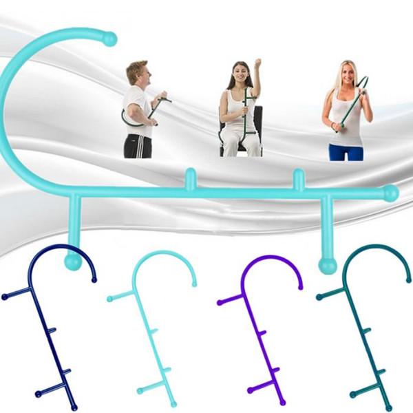 best selling Hot Sale Cane Back Hook Massager Neck Self Muscle Pressure Stick Tool Manuel Trigger Point Massage Rod