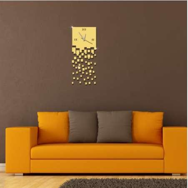 New Large Wall Clocks DIY Modern 3D Luxury DIY Clock Mirror Stickers Living Room Decoration Art Europe Wall Clock Reloj Mural