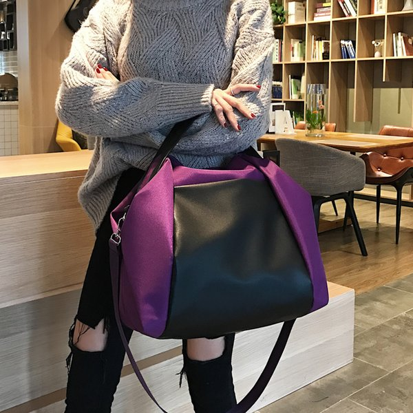 Women Large Travel Canvas Bags Outdoor Sports School Shoulder Bags Casual Nylon Totes High Capacity Cross Body Bags Shopping Purse Laptop
