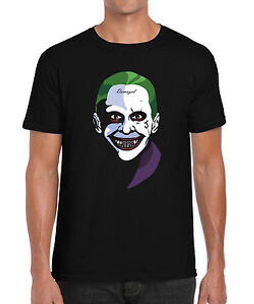 Joker Suicide Squad O-NeFashion Клоун Лето Пародия Вдохновленная футболка с рисунком S 2XL