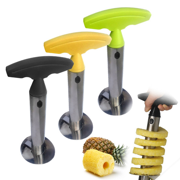 Stainless Steel Pineapple Peeler Cutter Pineapple Slicers Corer Peel Core Tools Fruit Vegetable Knife Kitchen Accessories HHA1118