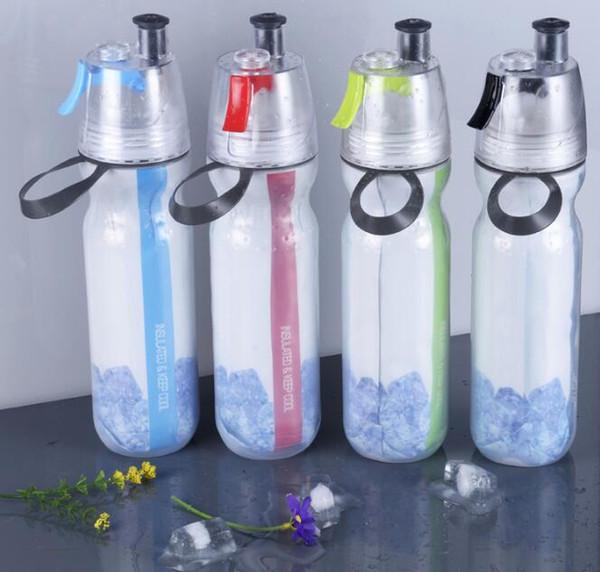 Sport Wasserflasche Misting Spray Gesunde Sportflaschen Tragbarer Leckageschutz Für Reise Weltraum Fahrrad Wandern