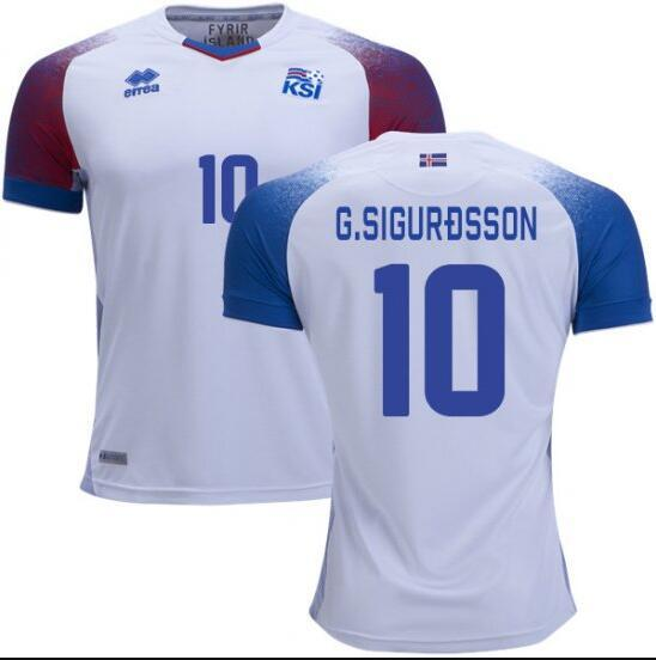 2018 Iceland soccer Jersey world cup GUDMUNDSSON SIGTHORSSON G.SIGURDSSON TRAUSTASON FINNBOGASON INGASON new Football jerseys