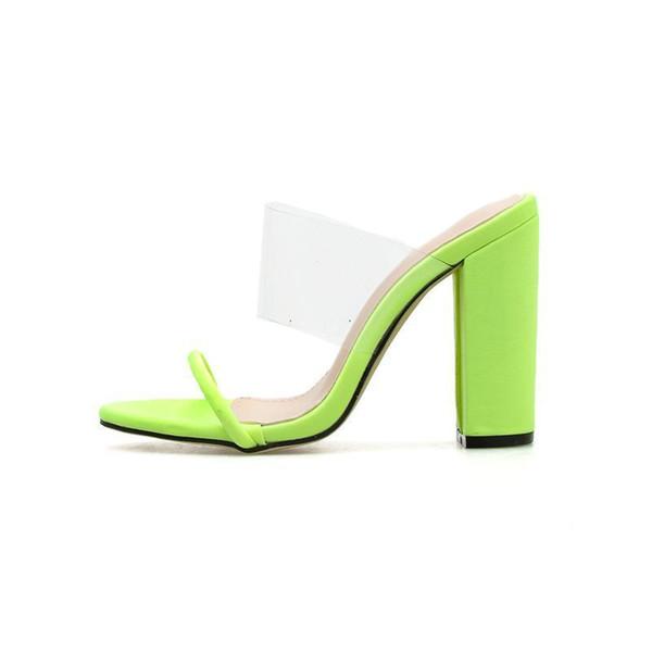 Wedding2019 Lady Ma'am Sandalen Sommer Toe One Word Raue Super High Mit Cool Slipper Wird Code 40