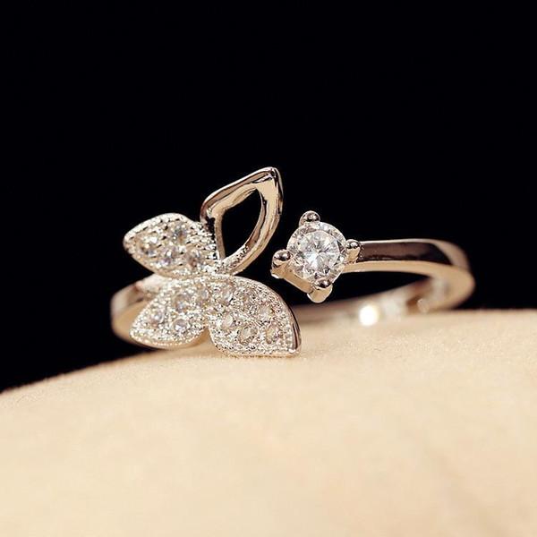 bague diamant papillon