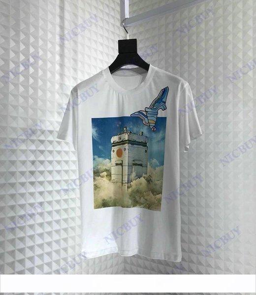 2019 высокое качество модельер бренд мужская футболка одежда европа Sky City Series печать футболка майка повседневная женская футболки