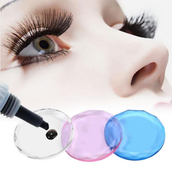 3PCs/Set Glass Individual Eyelashes Extension Glue Pallet False Eyes Lashes Separator Adhesive Stand Jewelry Packaging
