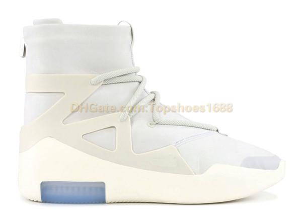 2019 Tasarımcı Ayakkabı Tanrı Korkusu AR4237-002 Işık Kemik Siyah Erkekler Kadınlar Moda Sis Çizmeler Gerçek Deri Kutusu Olmadan Satılık Boyutu 7-12