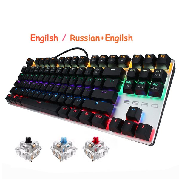 Metoo zero 87 104 Keys USB Wired Pro Gaming Keyboard Wired LED Backlight Keyboard and Mouse for Tablet Desktop PC Games