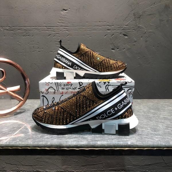Nueva arrivel para hombre zapatillas de tenis en superficie marrón con decoración de mampostería de estiramiento botines de punto marcas de zapatos para caminar