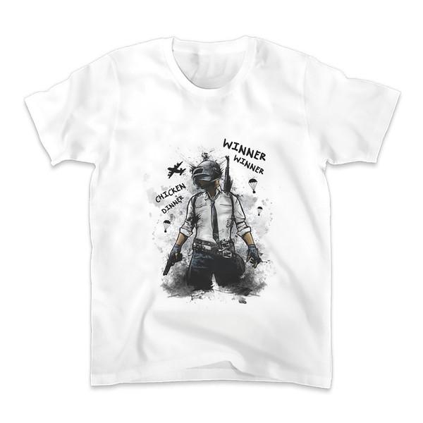 Winner Winner Chicken Dinner Design T Shirt Men New White Casual Plus Size Tshirt Homme Gamer Sublimation Print T-shirt