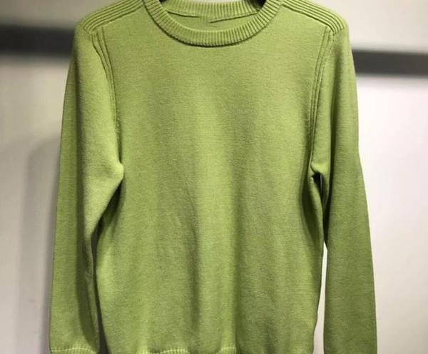 casuales para hombre suéteres de algodón de alta calidad de manga larga ronda suéter de cuello otoño y el invierno pareja knittedxxloffow