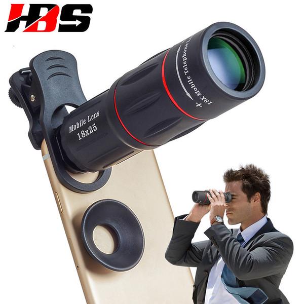 HD 18X Telescope Zoom Mobile Phone Lens Universal Clip Telefon Camera Lents With Tripod For Huawei P6 P7 P8 P9 P10 Lite Plus P20