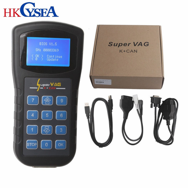 HKCYSEA SUPER VAG K+CAN V4.6/4.8 Car Trouble Reading Code Machine Instrument Scanner VAG IMMO diagnostic-tool For VW Audi