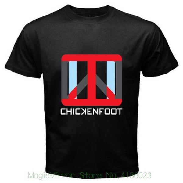 Novo Rockfoot Rock Band Logotipo dos homens T-shirt Preto Tamanho S Para 3xl Moda Masculina de manga Curta T-Shirt dos homens novos