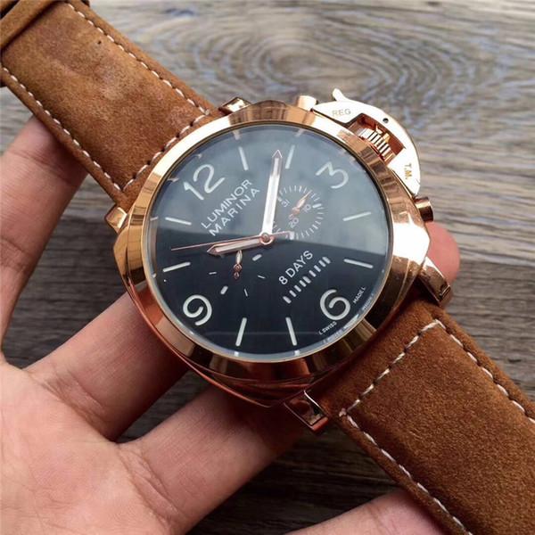 La mejor calidad del dial grande de la vida impermeable de los hombres automáticos reloj de moda de cuarzo top marca de lujo vestido reloj de los hombres reloj militar regalo