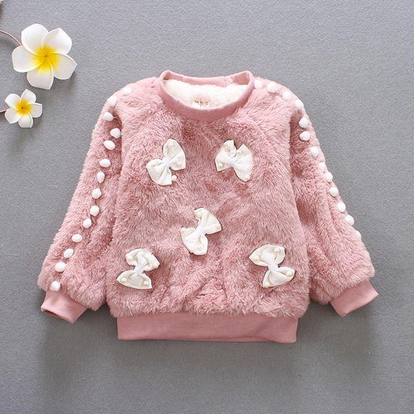 BibiCola girls winter sweater girl long sleeve clothes kids winter sweater for girls children fashion bow sweater coat. SH190907