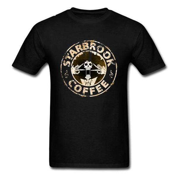 T shirt One Piece re dei pirati Tshirt Uomini Starbrook Coffee Grunge Arte maglietta Giappone Anime Anima Skull Brook Tops Rufy Zoro Tees