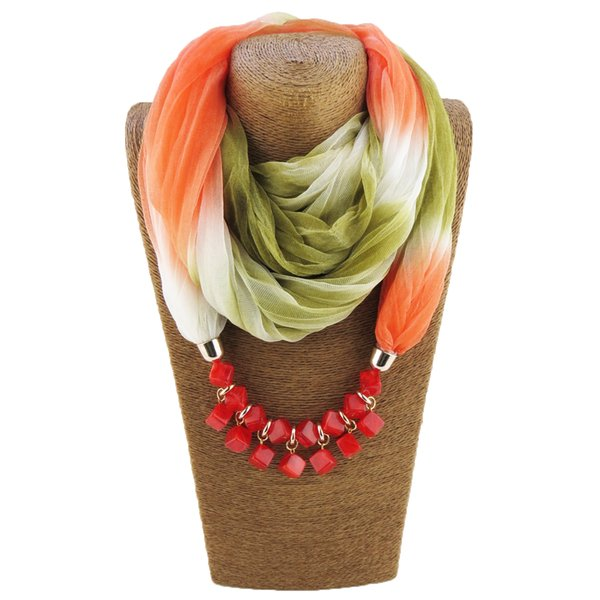 New style amber beads necklace ladies scarf headscarf jewelry pendant free shipping