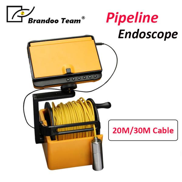 Brandoo 20M 30M Tubería industrial Inspección de endoscopio Cámara de video 5