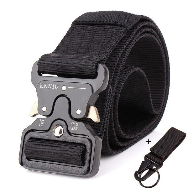 Tactical Belt Military Automatic Buckle Belt Training Waistbelt Molle Nylon Belt Men Swat Army Combat Cinto Adjust Tactical Gear Y19051803