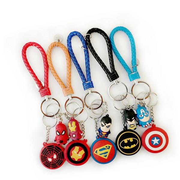 New Superhero Avengers Iron Man Superman Marvel Spiderman Captain America Boys Men Girls Key Chain Keyrings Bag Key Ring