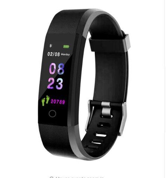 NOVA Pulseira de Saúde Monitor de Freqüência Cardíaca / Pressão Arterial / Pedômetro À Prova D 'Água Sports Bracelet para Homens Mulheres relógio
