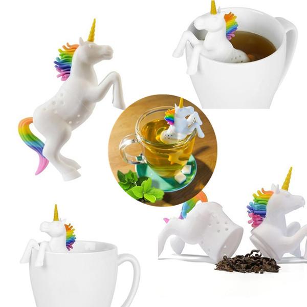 Новый единорог силикагель для заварки чая мультфильм животных ситечко для чая фильтр животных рассыпной чайный пакетик детские игрушки T8I023