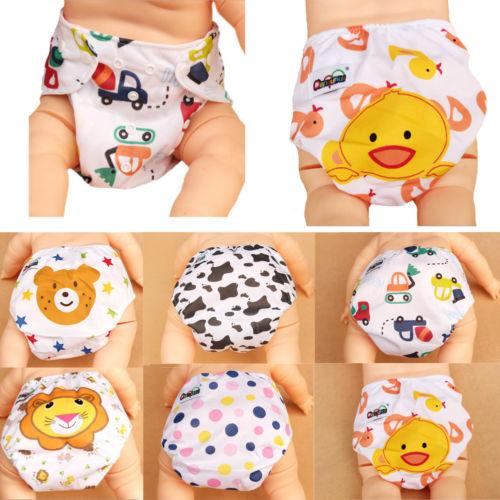 Cute Newborn Baby Boys Girls Diapers Cover Adjustable Reusable Washable Nappies Cloth Wrap Cartoon