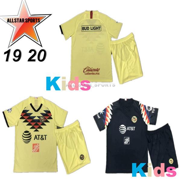 America Kids 2019 2020 O.PERALTA B.VALDEZ A.LBARRA LIGA MX Club Mexiko Amerika CA Fußball Trikot Kinder Trikot 19 20 Kind