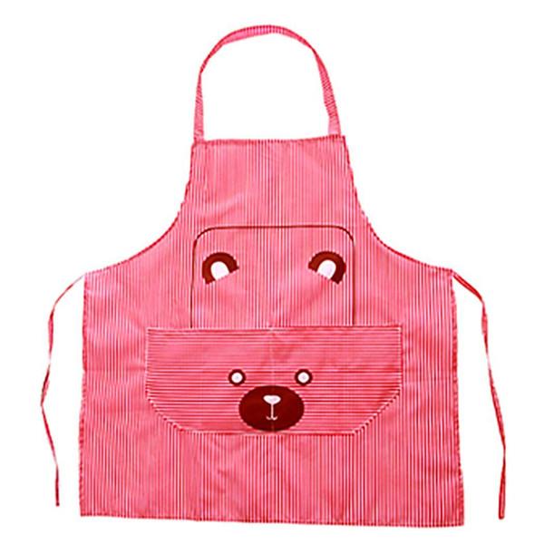 Bavoir de restaurant de cuisine de poche à rayures avec ours mignon Durable et pratique à utiliser. Cuisson dessin animé ours, tablier