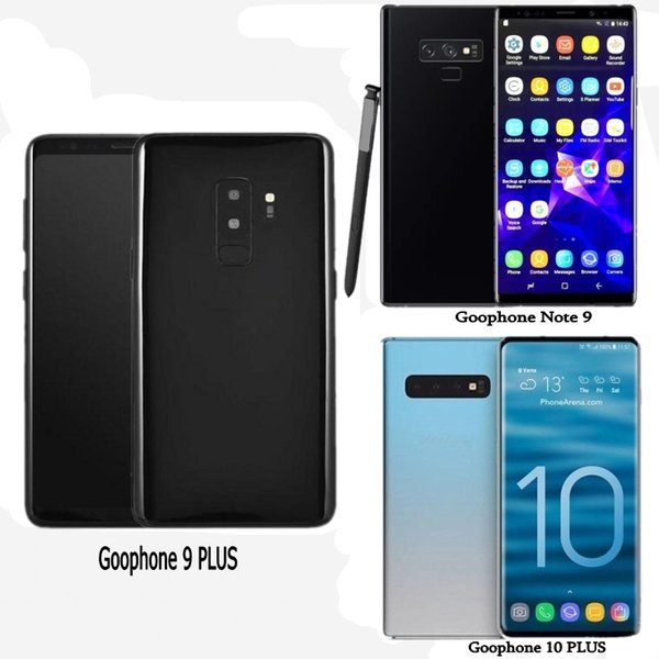 Free DHL Goophone S10 plus Note 9 Fingerprint Unlocked Smartphones Show Android octa core 4GRAM 128G 4G LTE 6.4inch Cellphone Sealed box